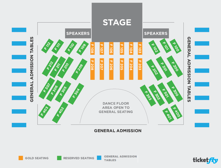 Concert Diagram Half Floor TF
