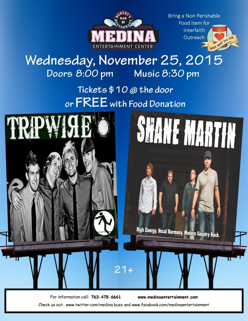 Shane Martin & Tripwire Food Donation 11.25.15