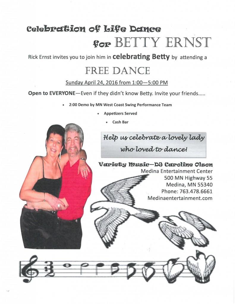 Betty's Dance Flyer