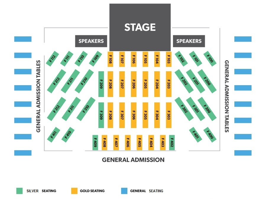 Concert Seating Diagrams